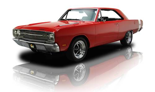 Red 1969 Dodge Dart Swinger